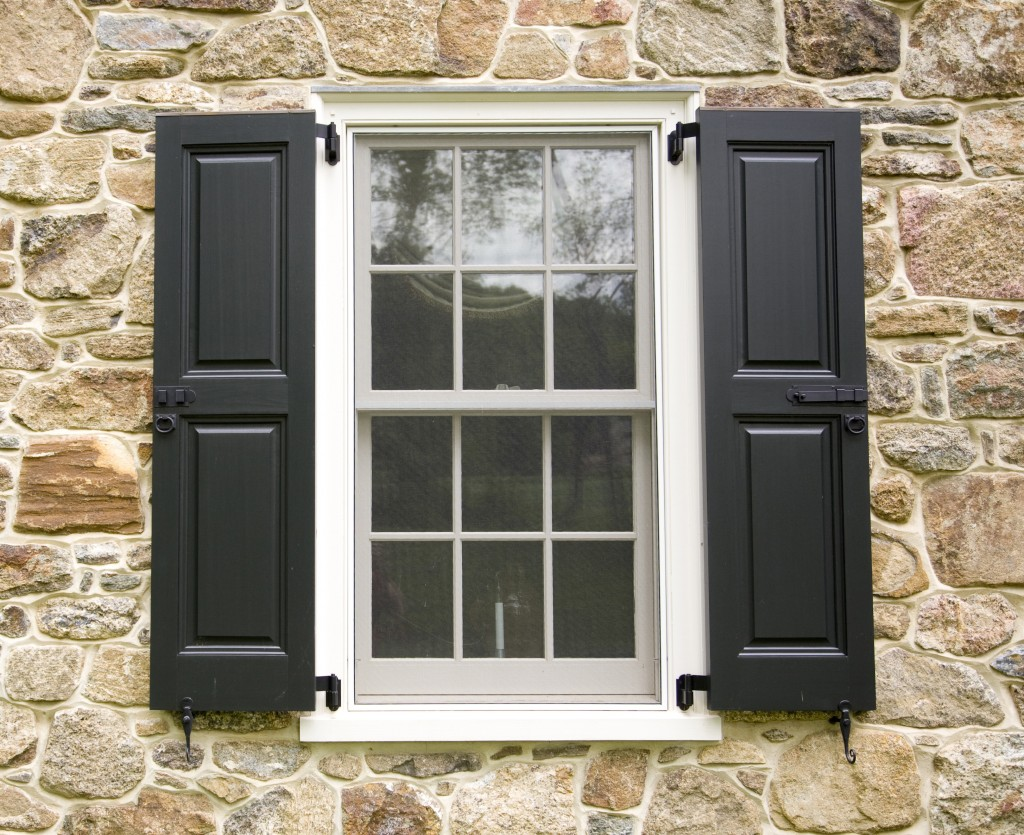 if the windows are already wrapped with trim consider mounting the shutter on top of - Decorative Shutters