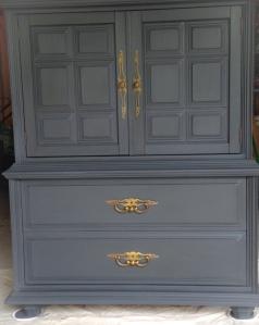 Charcoal gray dresser at Grove Job Shop