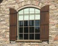 curved top shutters