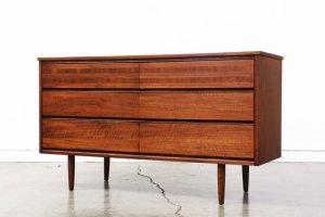 Mid Century Walnut Dresser by VintageSupplyLA