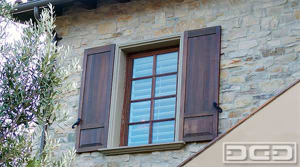 Stained Exterior Shutters