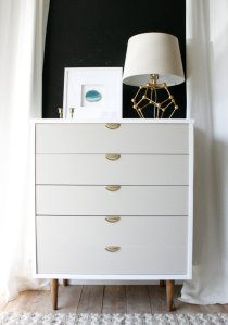 Bright White Midcentury Highboy