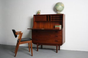 1960s danish teak desk ABT Modern
