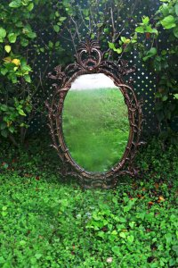 antique hollywood regency mirror