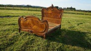 antique queen bed shabby european flair