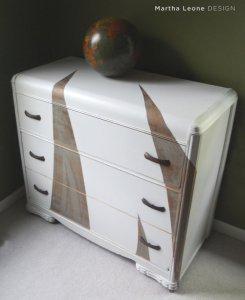 art deco chest of drawers martha leone design