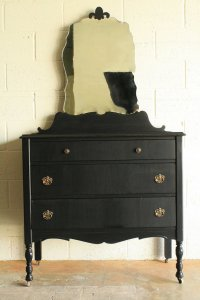 black antique dresser hayleon vintage
