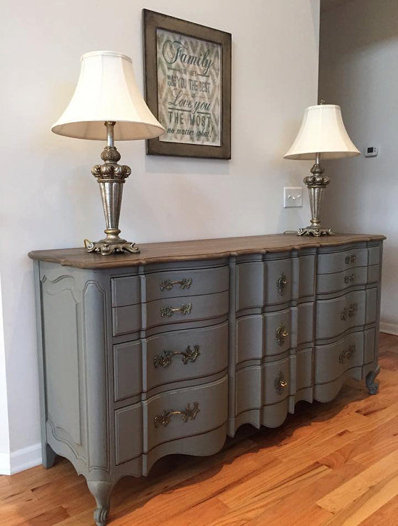gray dresser new southern charm