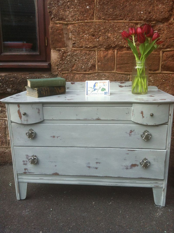 antique chest of drawers paris grey