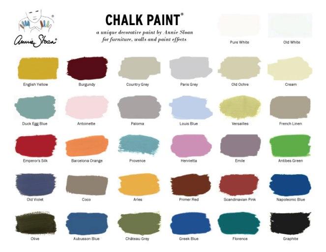 color chart annie sloan